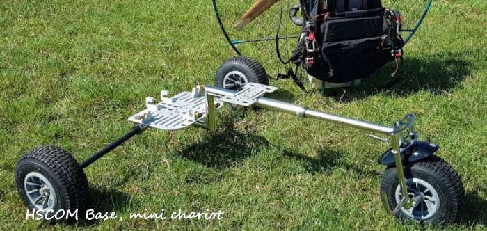 HSCOM Base : le mini chariot, distribué par Vosges Plaine Paramoteur